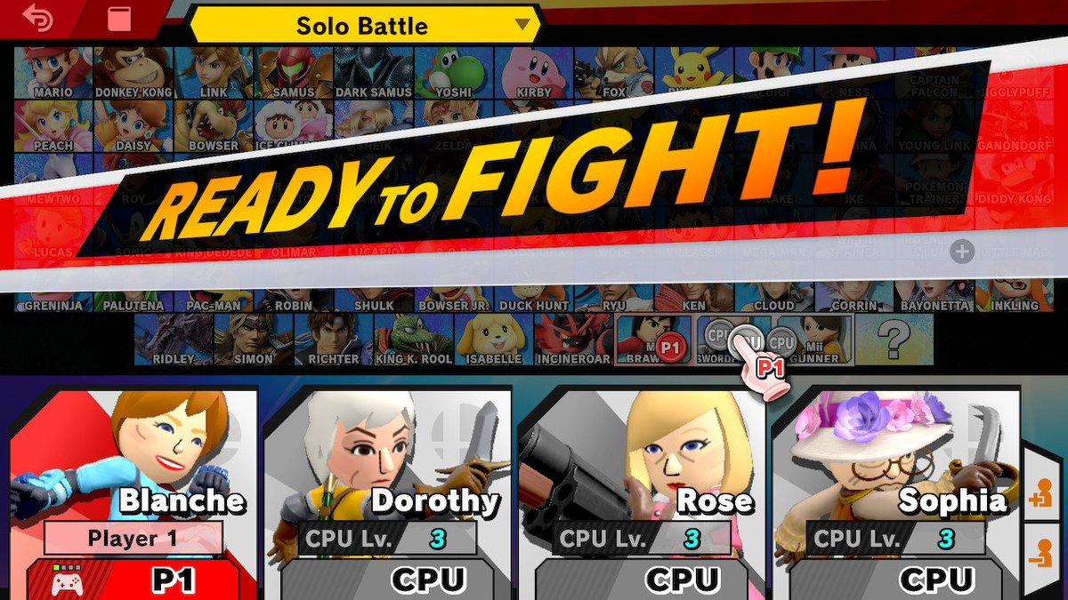 Im making the Golden Girls episodes that I want to see #SmashBros #NintendoSwitch