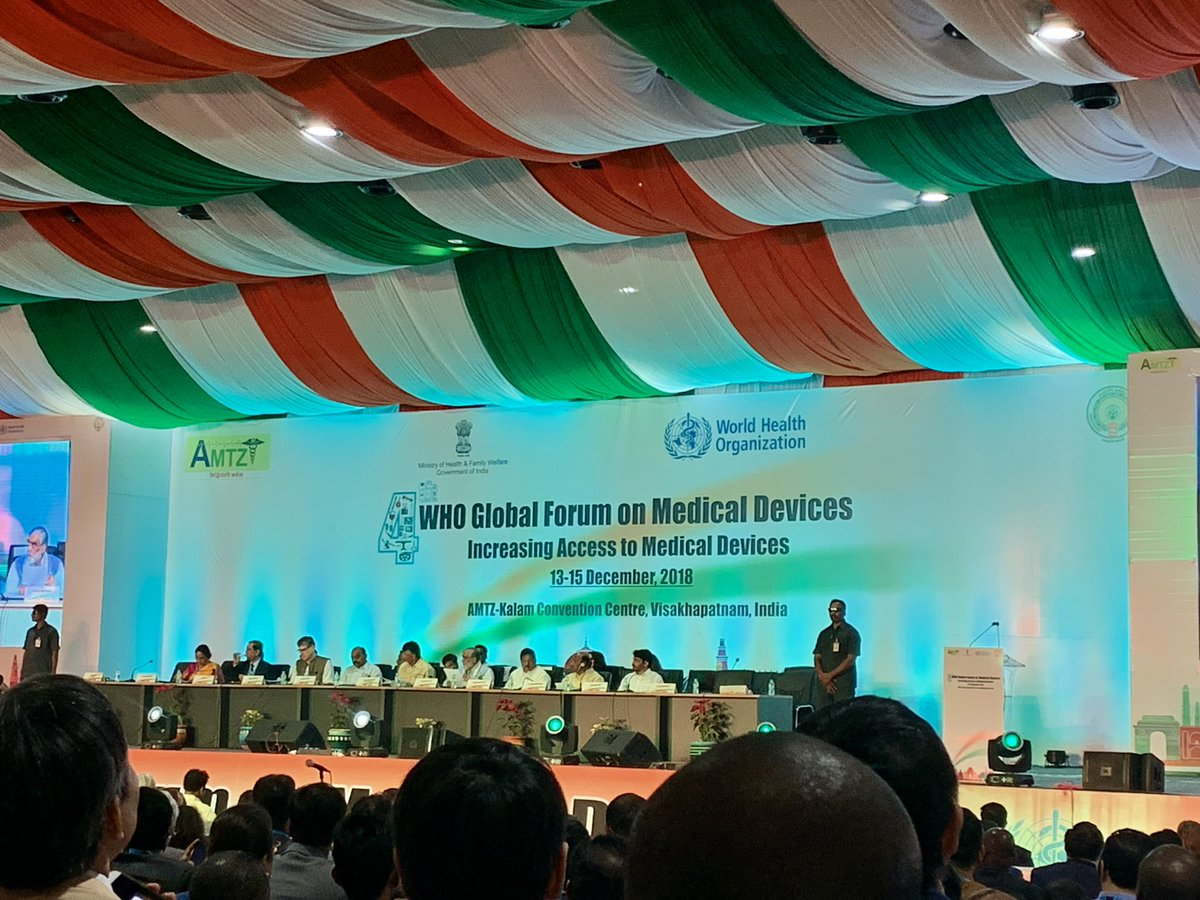 """""""We are here to serve for the most vulnerable people. And I am asking you to serve together."""" Adriana Velasquez #4GFMD @WHO #MedicalDevices #AndhraPradesh #india #vishakapatnam"""