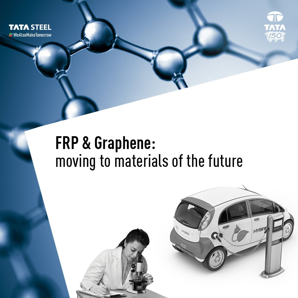 We have moved beyond steel to help usher in a new era of technological advancement with Fibre Reinforced Polymers (FRP) and Graphene. These provide extraordinary strength and lightness, aiding innovations of the future. #WeAlsoMakeTomorrow  Watch:  https://www. youtube.com/watch?v=3tVu3h oEK-E &nbsp; … <br>http://pic.twitter.com/Ae7ELNhACa