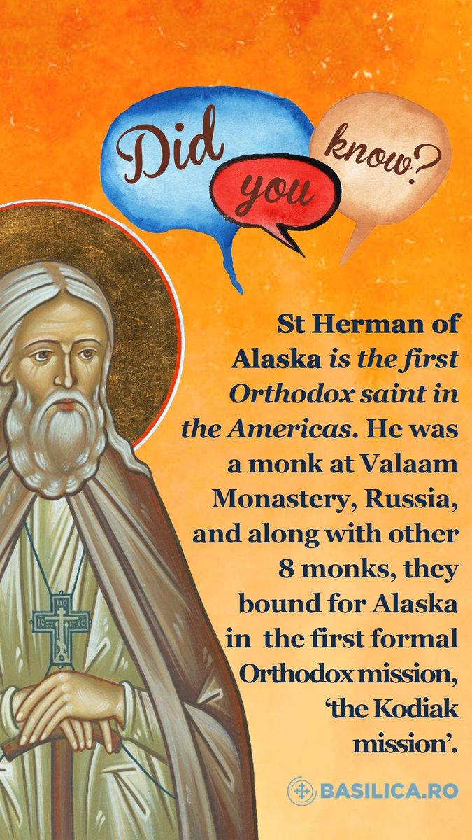 Saint Herman, pray to God for us! <br>http://pic.twitter.com/b6wsXd4AmJ