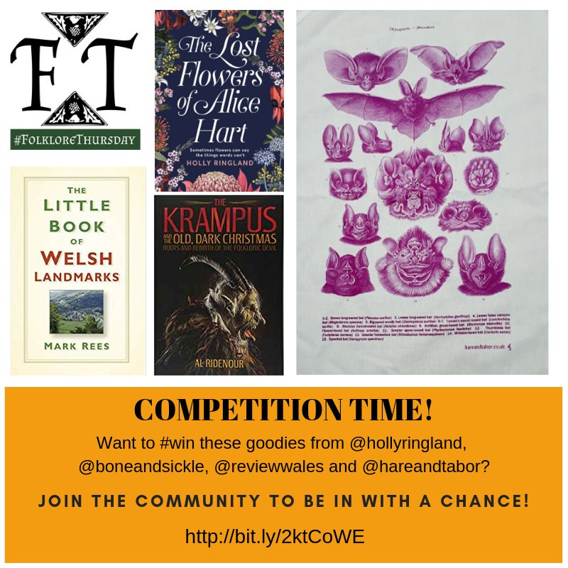 #Competition time! Want to #win these goodies from @hollyringland, @boneandsickle, @reviewwales and @hareandtabor? @MantleBooks #amreading Join the #FolkloreThursday community to be in with a chance this #Christmas! bit.ly/2ktCoWE