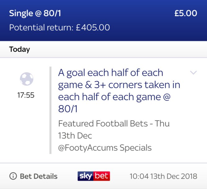 WE'VE BACKED THIS HUGE 80/1 SPECIAL FOR THE 5 FEATURED EUROPA LEAGUE GAMES!!! 😮😮😮 This special is EXCLUSIVE to SkyBet ✅ Tap '❤️' if you want that link! 18+ Photo