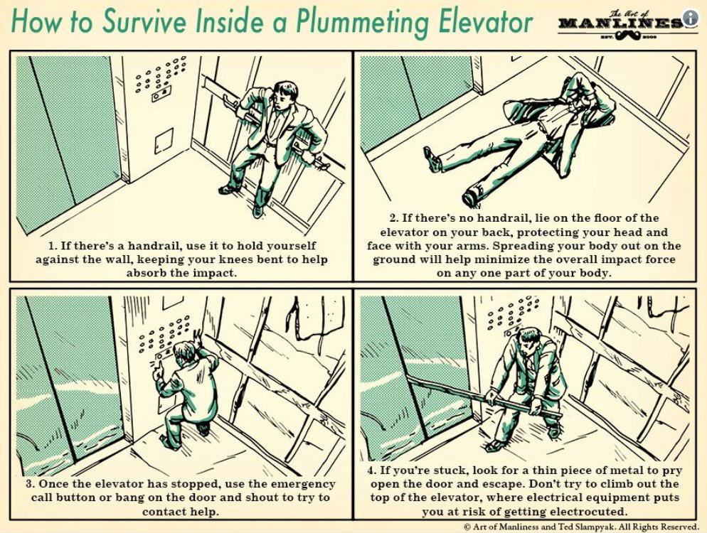 How to survive in a falling lift and other insane survival tips you didn't know you needed: https://t.co/IyD59kKElr