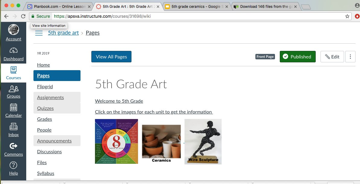 Setting up my <a target='_blank' href='http://twitter.com/CanvasLMS'>@CanvasLMS</a> course for 5th grade art. It's coming together! <a target='_blank' href='http://twitter.com/APSPersonalized'>@APSPersonalized</a> <a target='_blank' href='http://twitter.com/APSArts'>@APSArts</a> <a target='_blank' href='http://twitter.com/longbranch_es'>@longbranch_es</a> <a target='_blank' href='https://t.co/Q7kvXzATUn'>https://t.co/Q7kvXzATUn</a>