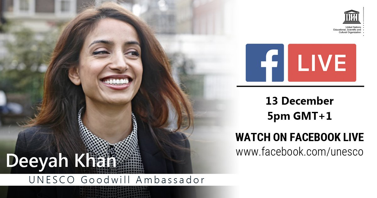 Attacks on artists have increased over the last years all around the world. How to tackle this trend? How to underpin artists' freedom in this context?   Join our conversation with @Deeyah_Khan, UNESCO Goodwill Ambassador  ⏯️ https://t.co/SLZFQoCjnm #SupportCreativity