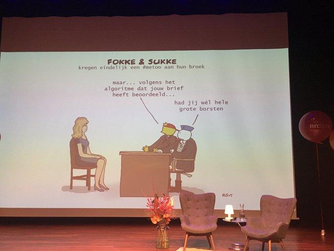 #nrclive @fokkesukke over AI en uitgenodigd worden voor het sollicitatiegesprek 😀 / #metoo ภาพถ่าย