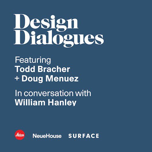 Join us Wed, Dec 19th Cocktails 6pm Conversation 7pm NeueHouse 110 East 25th Street #surfacemag #designdialogues @neuehouse @leica_camera @LeicaCameraUSA