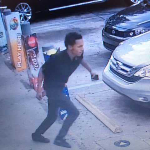 Can you ID? On 12/2/18, he battered a woman in her 60s who was holding the door open for him at the Citgo on Pershing Ave, and then stole her wallet! We need to arrest this guy. Recognize him or that car? Call @CrimelineFL 800-423-TIPS<br>http://pic.twitter.com/KMfVXplq5U