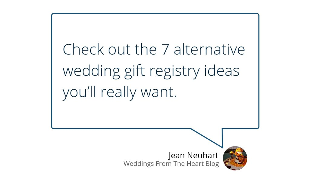 Jean Neuhart On Twitter 7 Wedding Gift Registry Ideas Youll