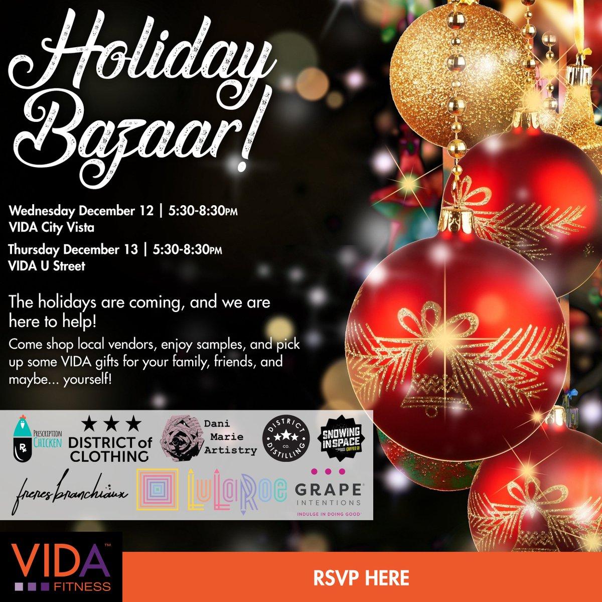 Vida Fitness On Twitter Missed Last Nights Holiday Bazaar Fun At