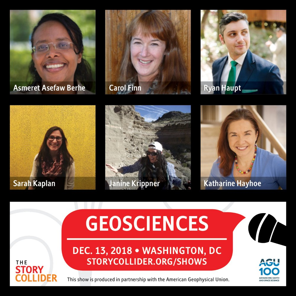 Image result for agu 2018 story collider berhe