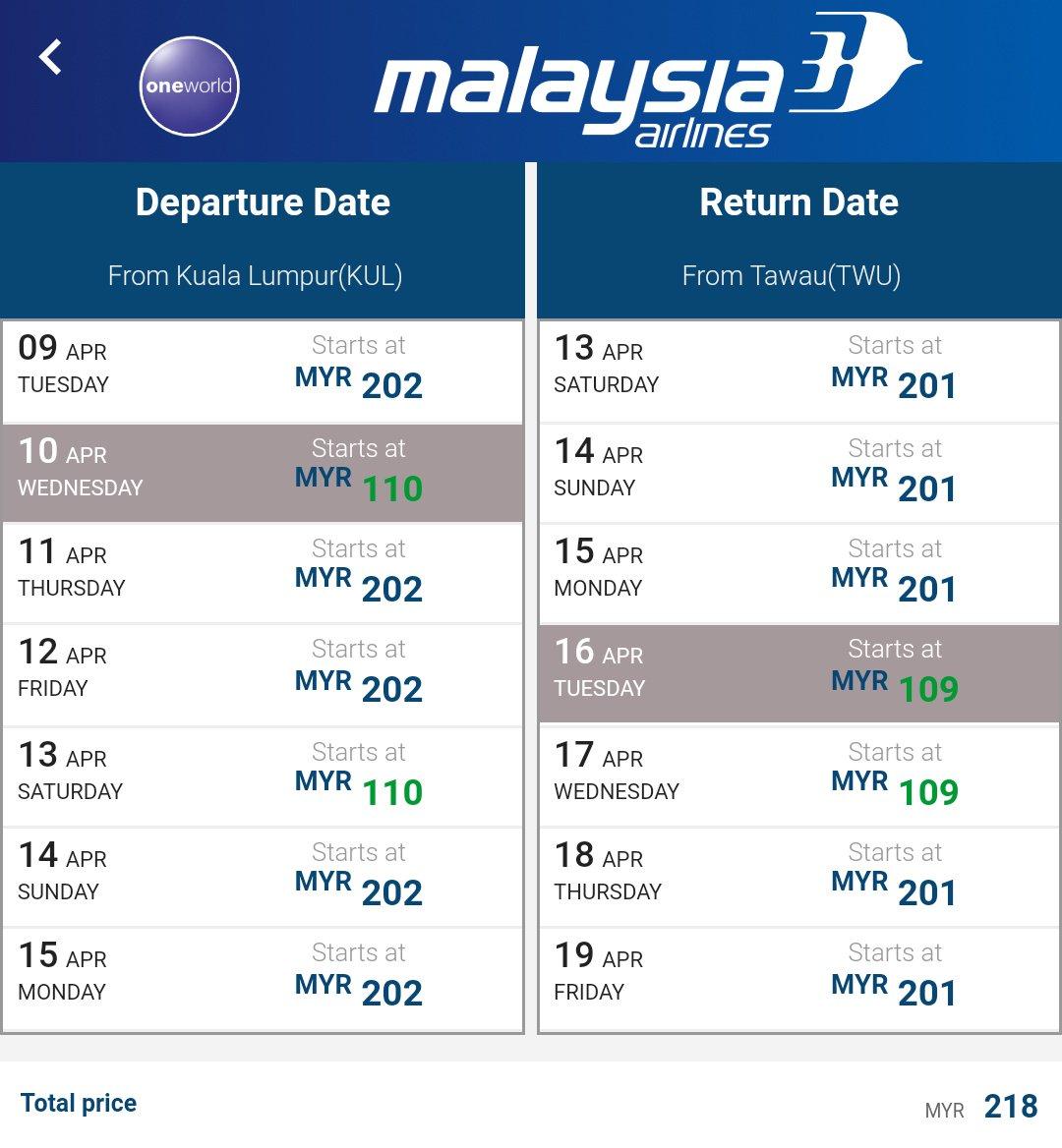 Pemburu Tiket Murah S Tweet Guys Malaysia Airlines