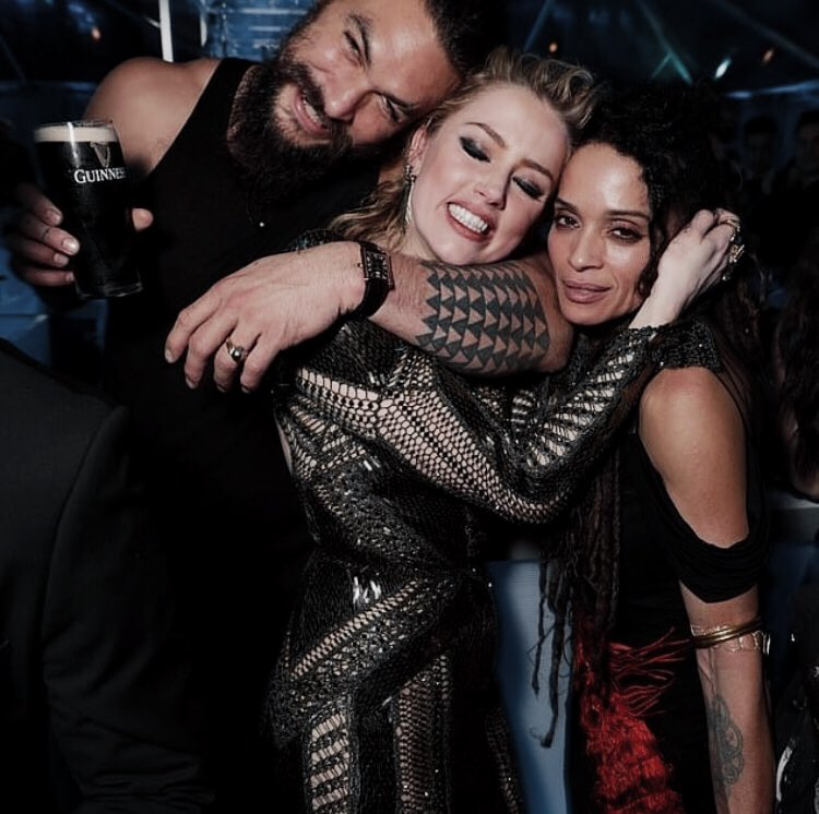 "Cloe. On Twitter: ""Jason Momoa, Amber Heard & Lisa Bonet"