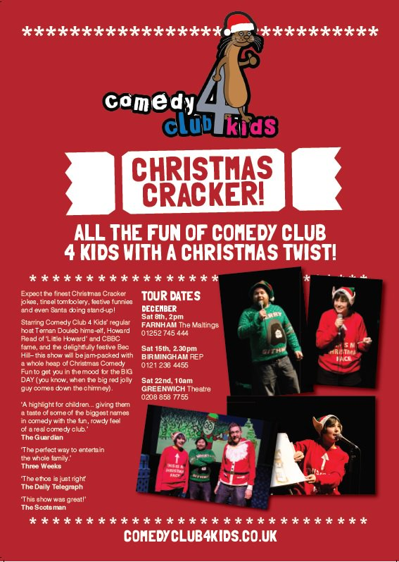 1cf3e336845 Christmas Cracker show, with Bec Hill, Tiernan Douieb & CBBC's Howard Read