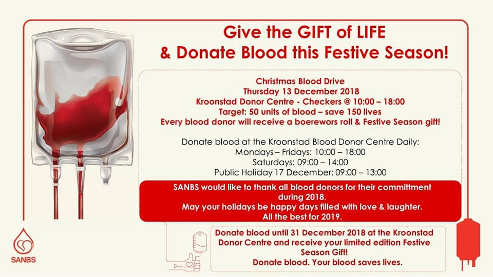 Christmas Blood Drive.The Sanbs On Twitter Sanbs Invites You To Donate Blood At