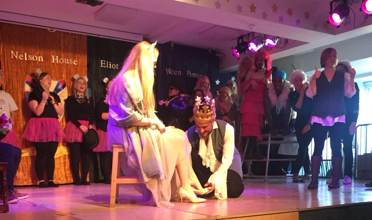 Great to watch my daughter in her school #pantomime. Very #proudparent as she had the starring role in #Cinderella Well she is the youngest teacher - yes it was a staff production @TheRocheSchool Hilarious!