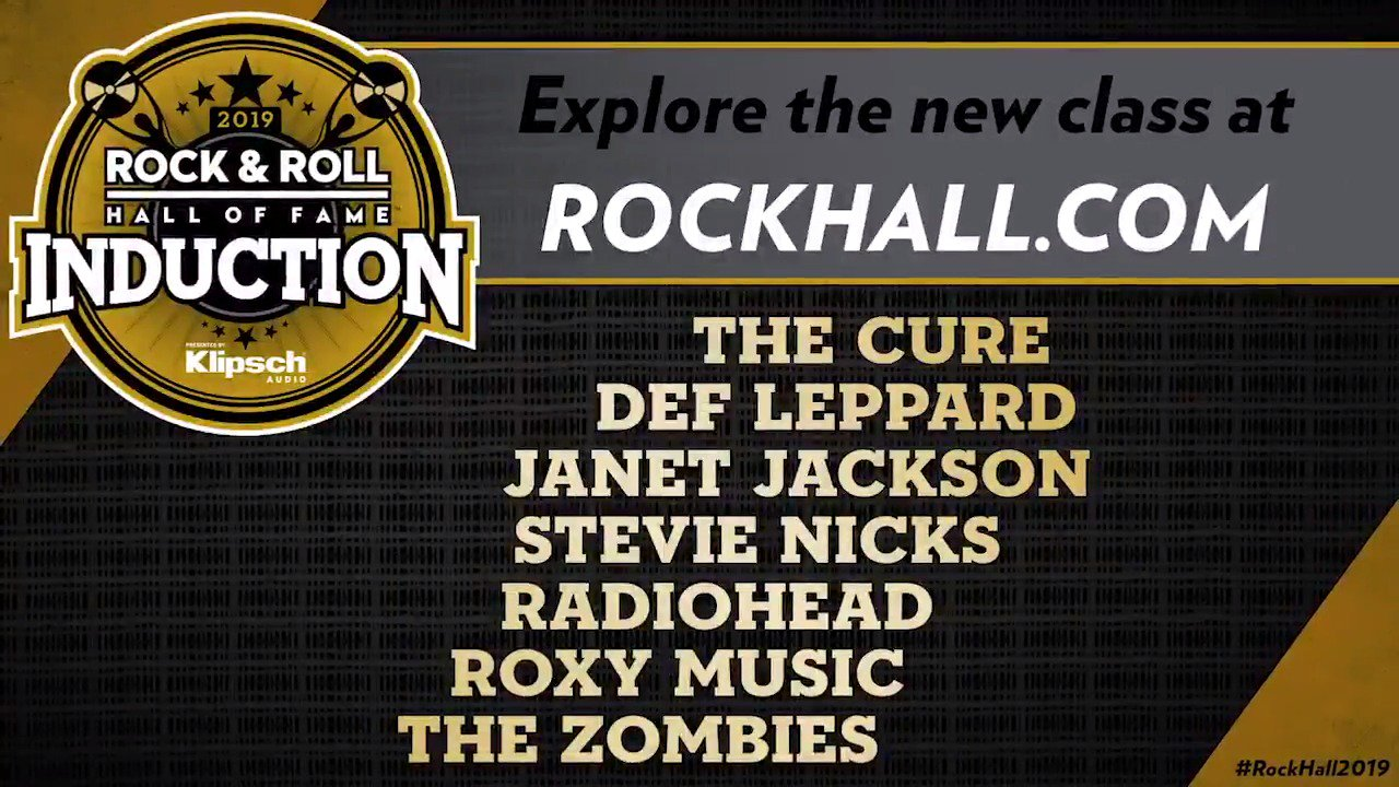 Reloaded twaddle – RT @rockhall: Congratulations #RockHall2019 Inductees @thecure, @defleppard, @ja...