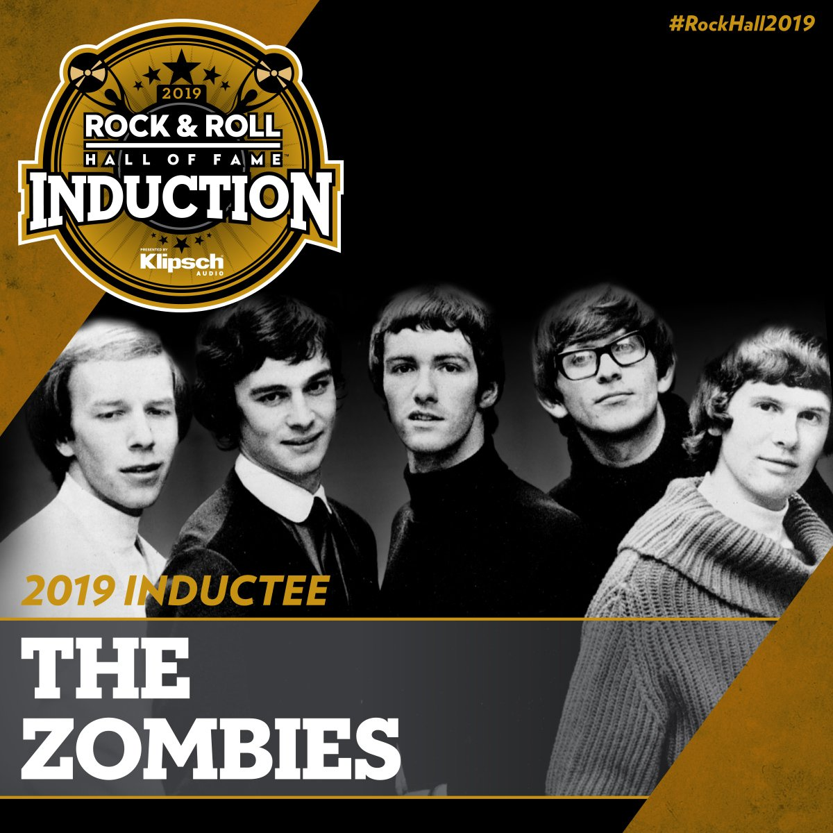 """The Zombies are @rockhall inductees!  """"This time to turn the corner and get inducted, feels fantastic … I'm just so delighted."""" - Rod  """"This is a career-defining [and] life-defining moment."""" - Colin"""