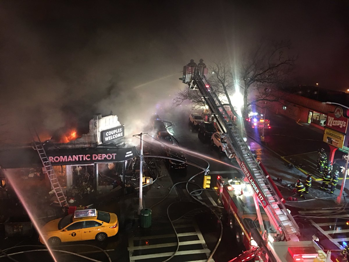 #FDNY members operated overnight on scene of a 5-alarm fire, 45-02 45 St #Queens