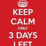 Image for the Tweet beginning: With only 3 days to