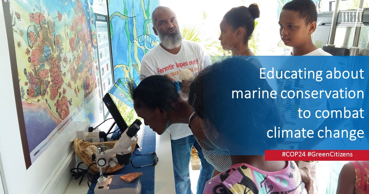 Mauritius brings the spirit of #COP24 and #EducationDay to life with a mobile unit taking #ClimateChangeEducation to islanders: https://t.co/oZ0TkBrNH0