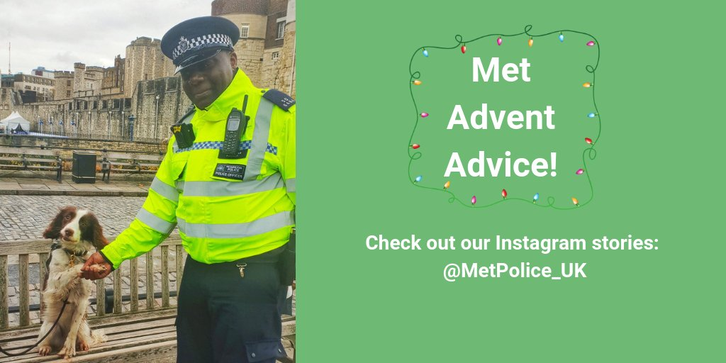 Have you spotted our #MetAdventAdvice Instagram stories? If not, head on over there! 📸 Everyday during advent we're giving you advice on how to keep you, your family and your property safe during the festive period.