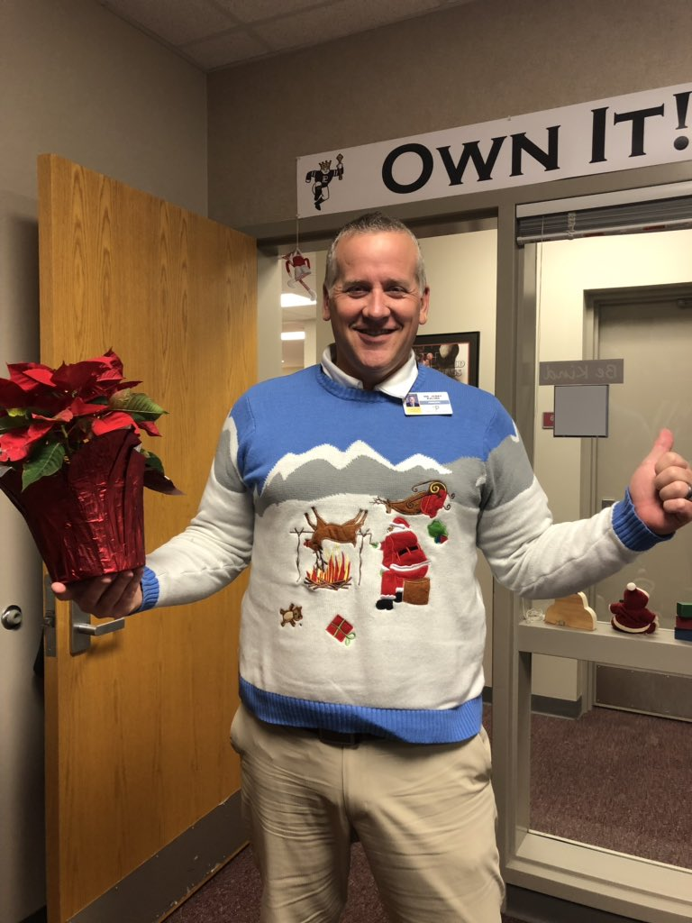 RT to vote for Mr. Kalina! #PLHSUglysweater