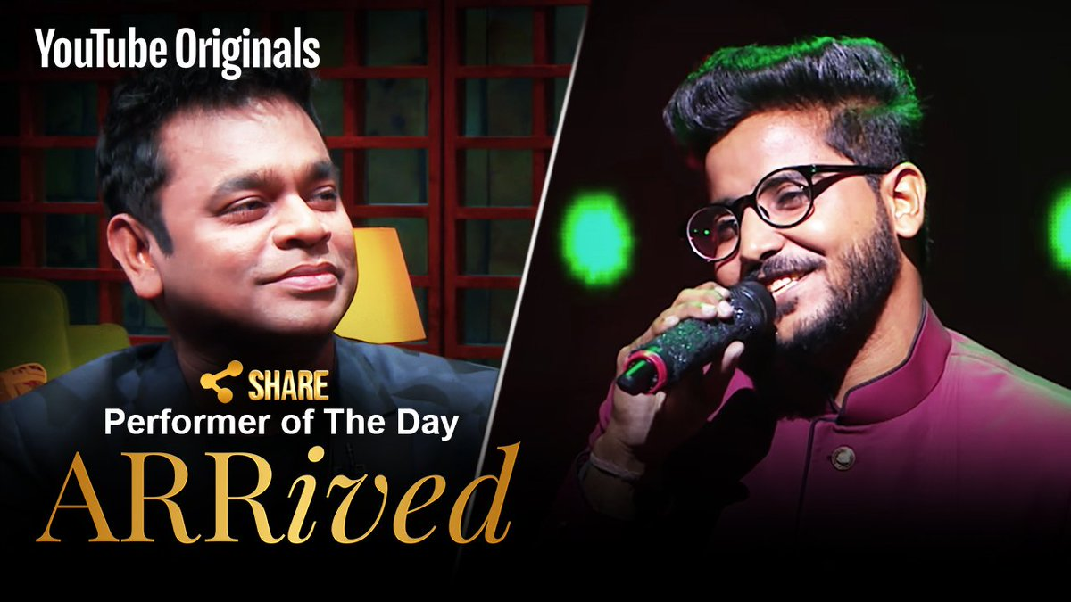 A magical rendition of 'Baisara Beera' by Swagat is what got me to hit the 'Share Button' #ARRivedSeries   Link: https://t.co/SYiBcxbuzs  @ClintonCerejo @singer_shaan @VidyaVox  @MyQyuki @YouTubeIndia #YouTubeOriginals #GodBless
