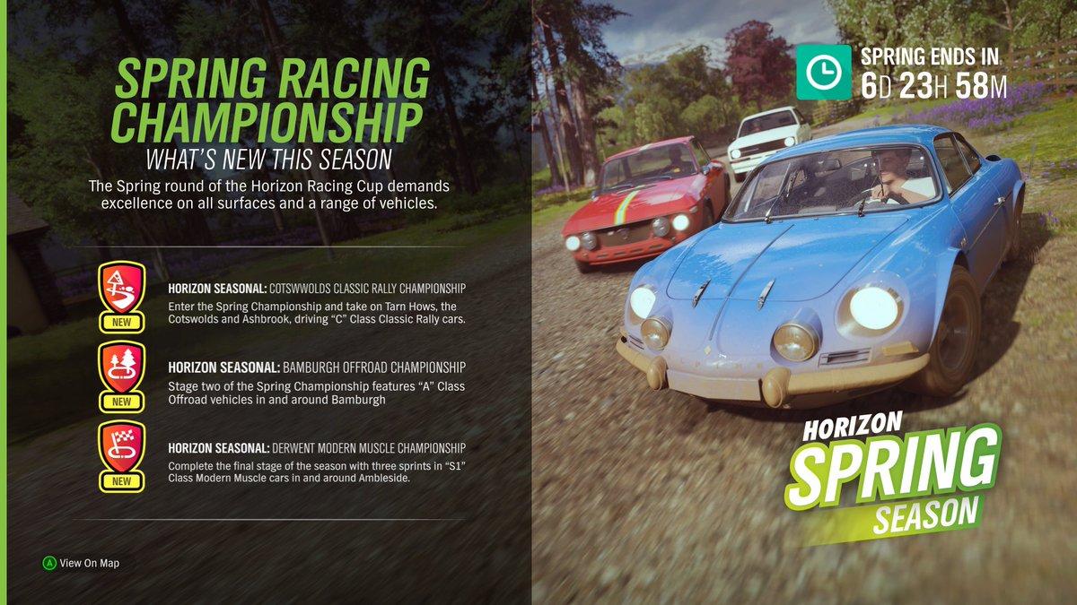 Spring seasonal #Forzathon Shop, events, and new cars through