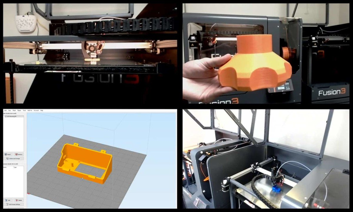 fusion3 3d printers on twitter each week fusion3 holds live 3d