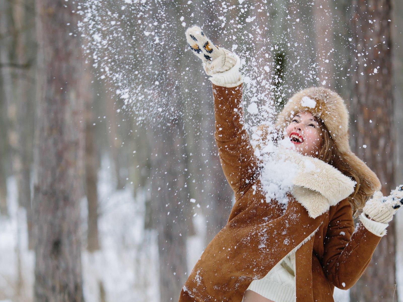 симпатичного новогодние картинки люди в снегу что, такие