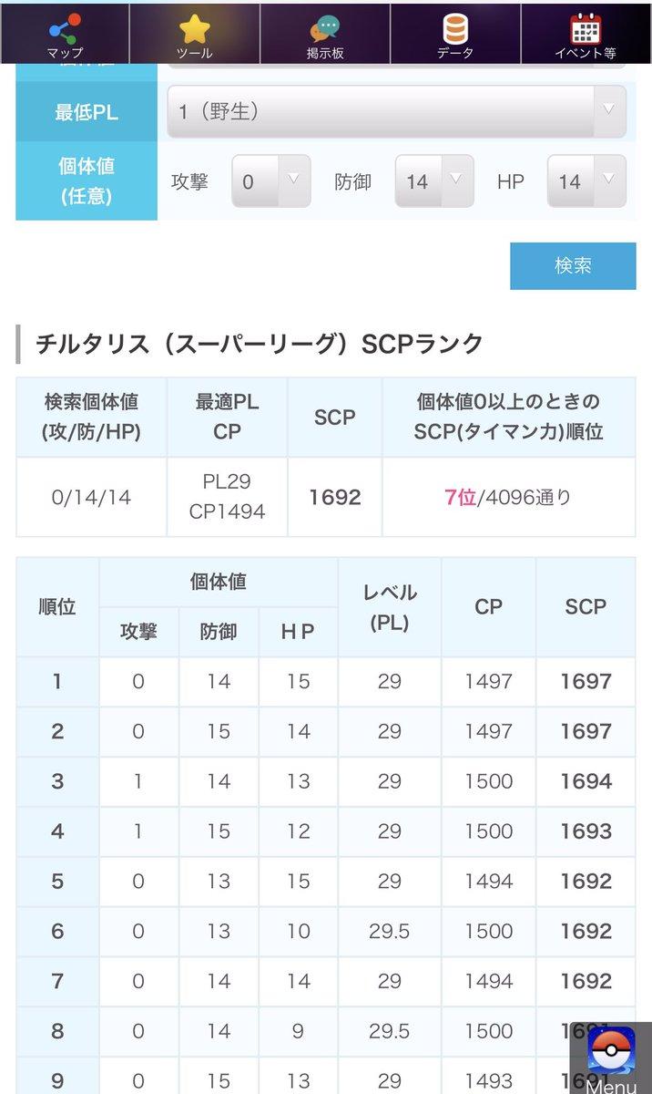 値 チルタリス 個体 スーパー リーグ