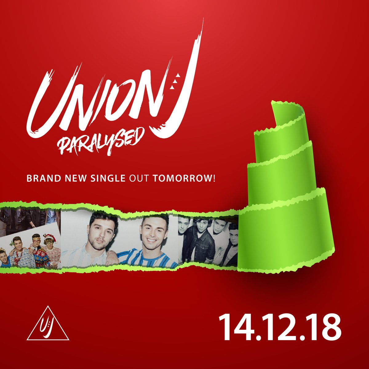The wait is almost over… #Paralysed – our brand new single is released TOMORROW!! #christmascomesearly #newmusicalert #newmusicfriday #unionj<br>http://pic.twitter.com/0JoZzzn8Zr