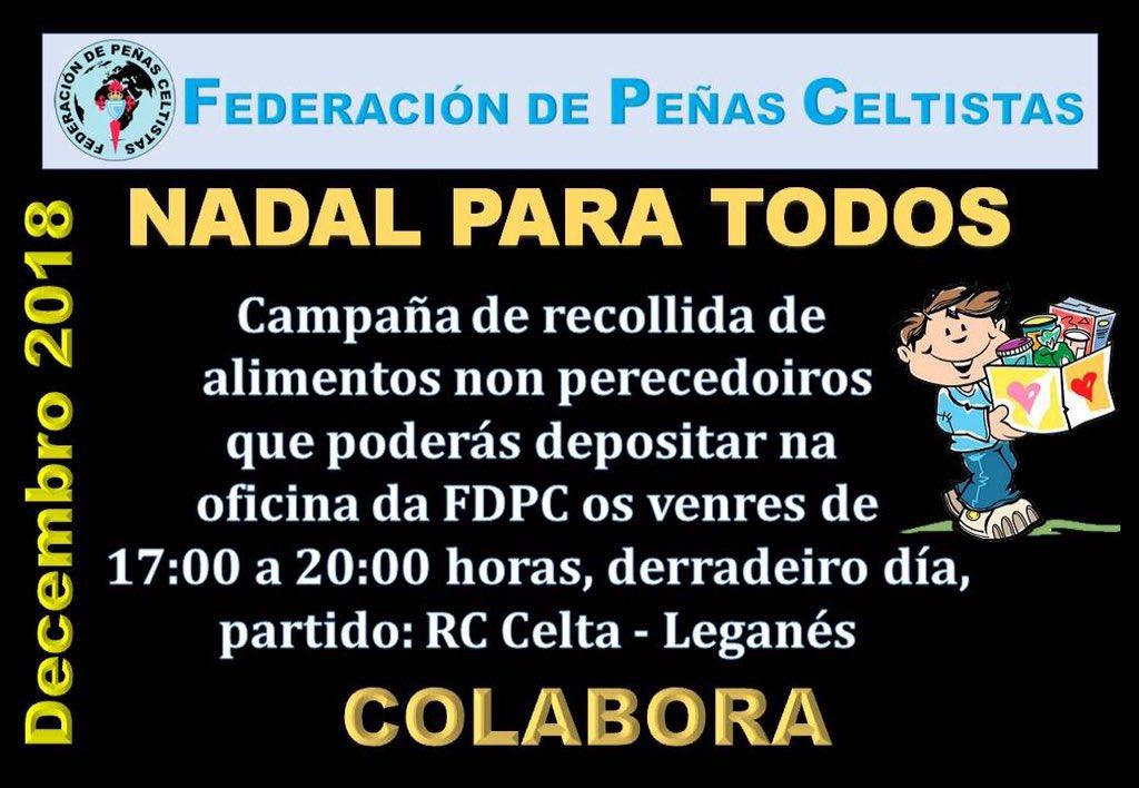 Mañan temos dous xogos moi importantes! Campaña solidaria: recollida de alimentos non perecedeiros organizada pola @FdPcelta  na previa do #CeltaLeganés de 17:00h a 20:00h na oficina de Marcador con Tribuna en #Balaídos. #AlaCelta