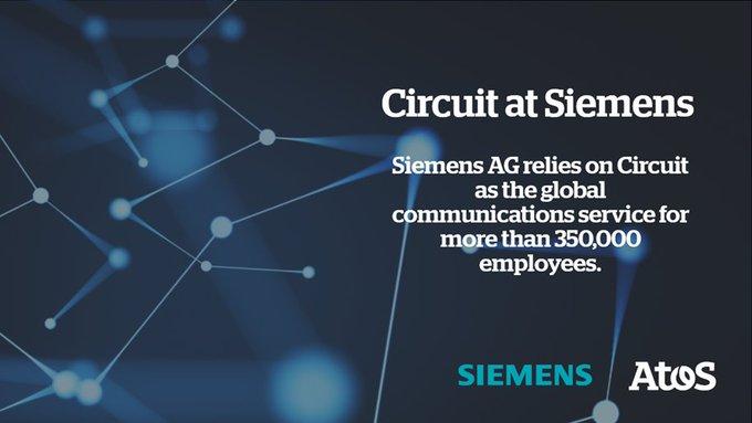 Circuit @Siemens:  - weltweit 350.000 Nutzer  - täglich 1,2 Millionen Nachrichten  -...