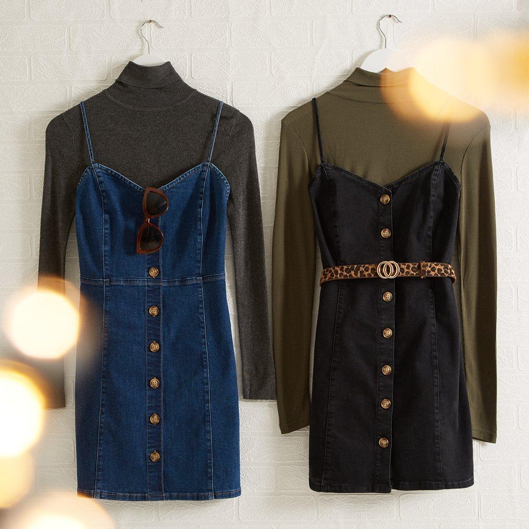7a62382283fdd Black Denim Dress Primark – Little Black Dress | Black Lace ...