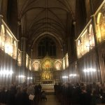 Image for the Tweet beginning: A beautiful #CarolService @KebleOxford chapel