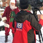 .@myfox8 is here interviewing Santa Claus ahead of @HighPointU's eighth annual Community Christmas happening tonight and tomorrow 5:30-8:30!