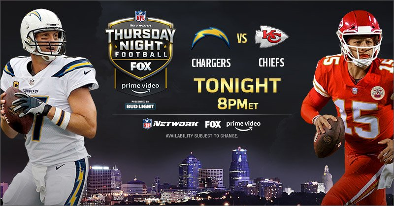 Ad: Watch #LACvsKC tonight at 8 p.m. EST on @nflnetwork @NFLonFOX @PrimeVideo.