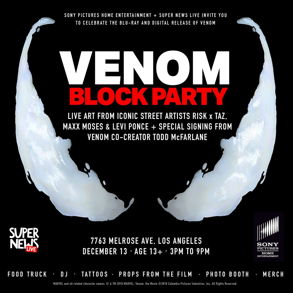 LA readers, want to party with #Venom on Friday?