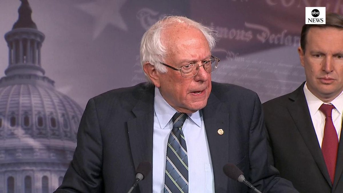 Sen. Bernie Sanders on Yemen vote: Both progressives and conservatives have made a profound statement that 45 years after the passage of the War Powers Act...finally the United States Senate has come together to use that authority for the first time. abcn.ws/2EvDwUm