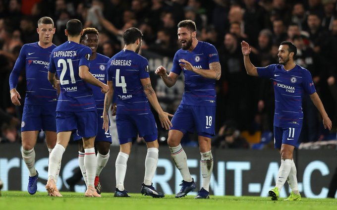 ✅ ✅ ✅ ✅ ✅ ✅ ✅ ✅ @ChelseaFC are on an 8️⃣ game win streak in the @EuropaLeague Their last defeat in the Europa League was back in 2013 but which team beat them? 🤔 Photo