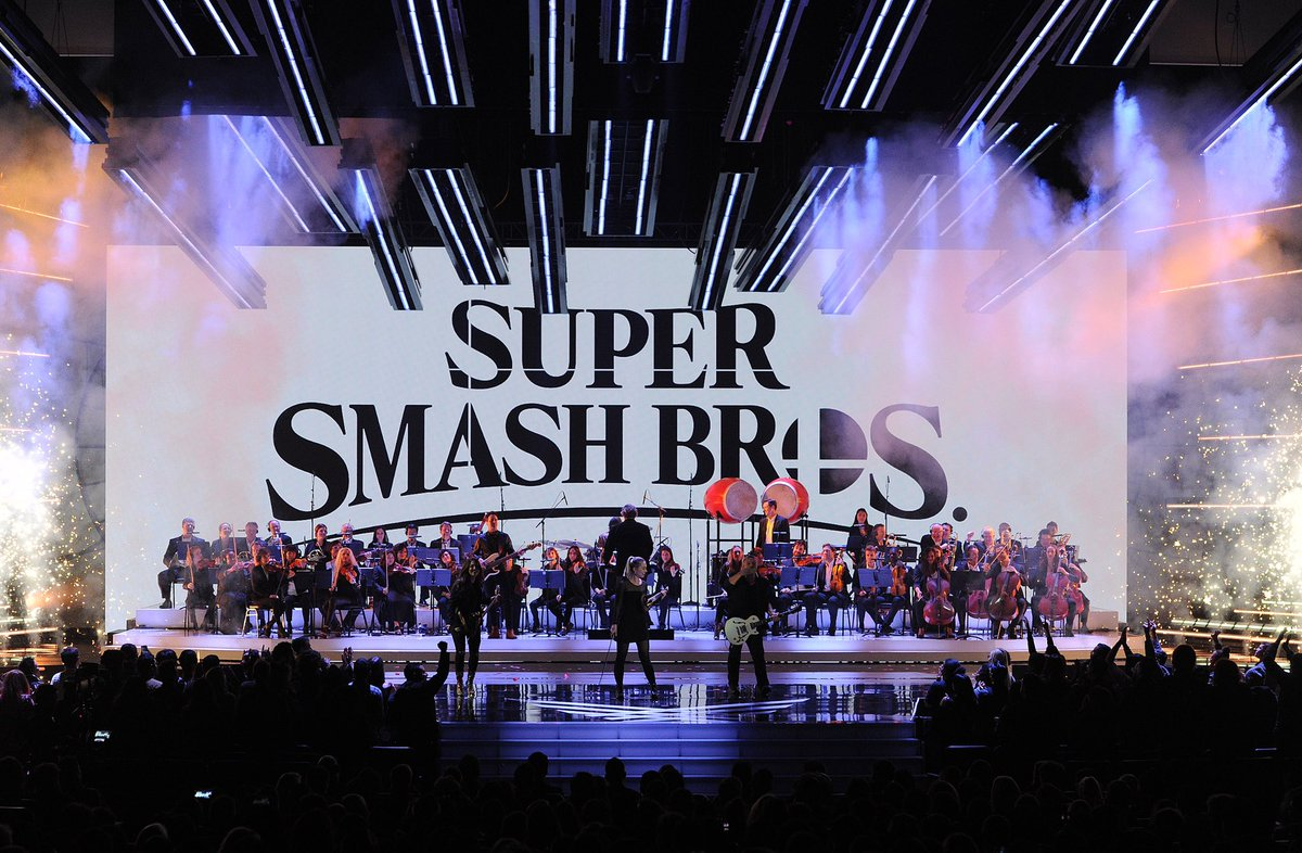 #tbt #TheGameAwards orchestra performs the theme of Super Smash Bros. Ultimate to celebrate the game's launch last week.