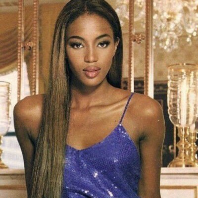 On Twitter Young Naomi Campbell