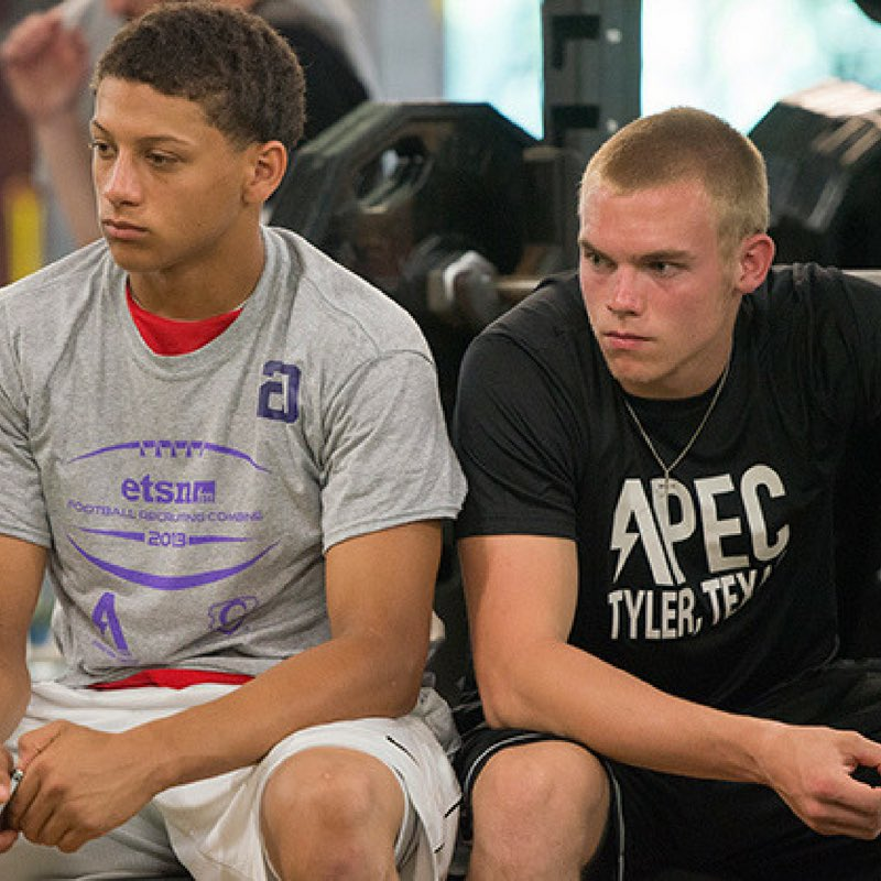 This picture was taken almost 6 years ago at APEC. Then, @PatrickMahomes5 and @dylancantrell14 were Whitehouse teammates. Then at Texas Tech for the next several years. Tonight is the first time they play against each other in the NFL. Thursday night football @Chargers vs @Chiefs<br>http://pic.twitter.com/pKXjTYXhLt