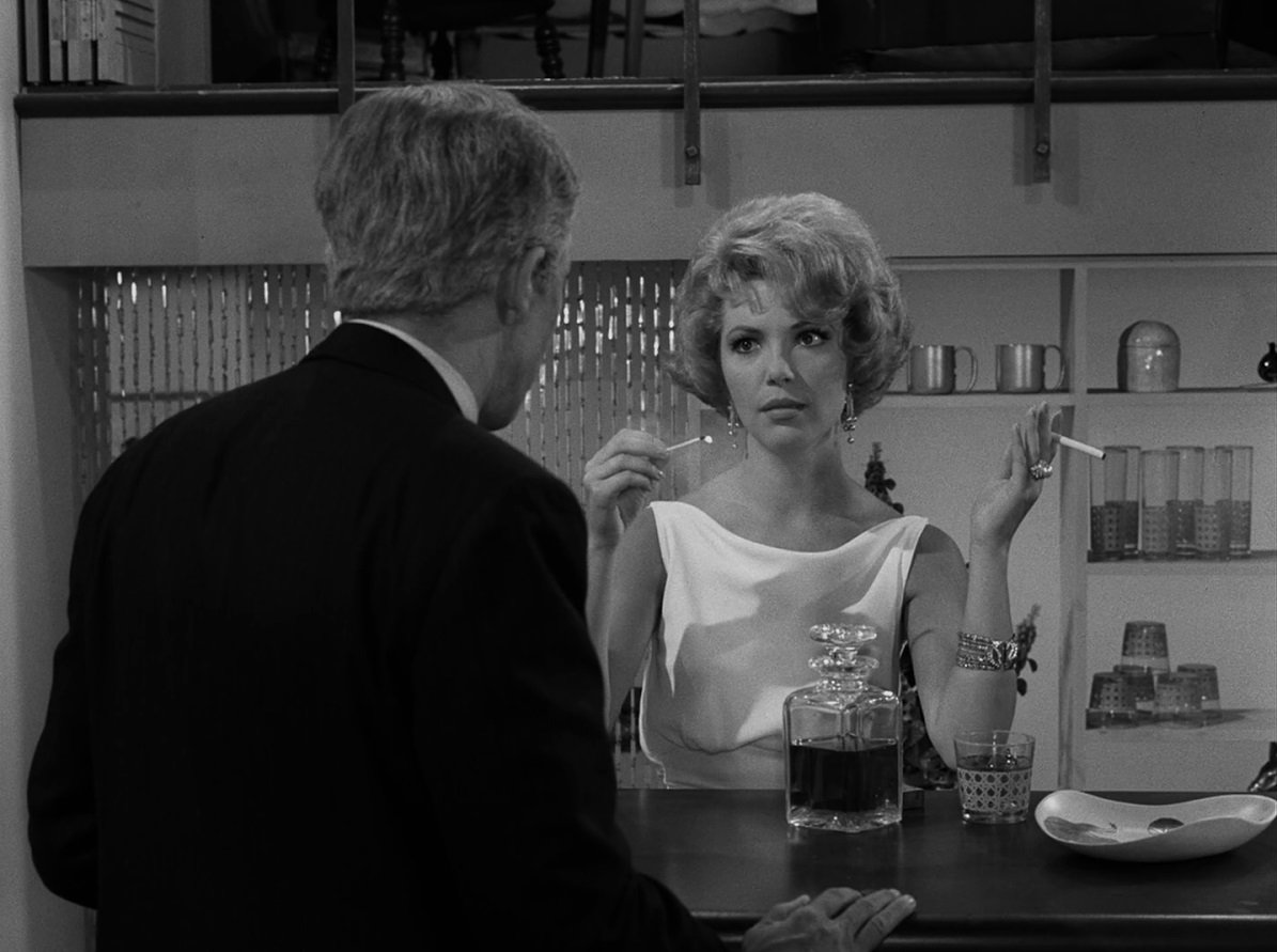 December 13, 1963: Twilight Zones A Short Drink From a Certain Fountain airs. An older man determined to keep his young trophy wife tries an experimental aging-in-reverse serum.