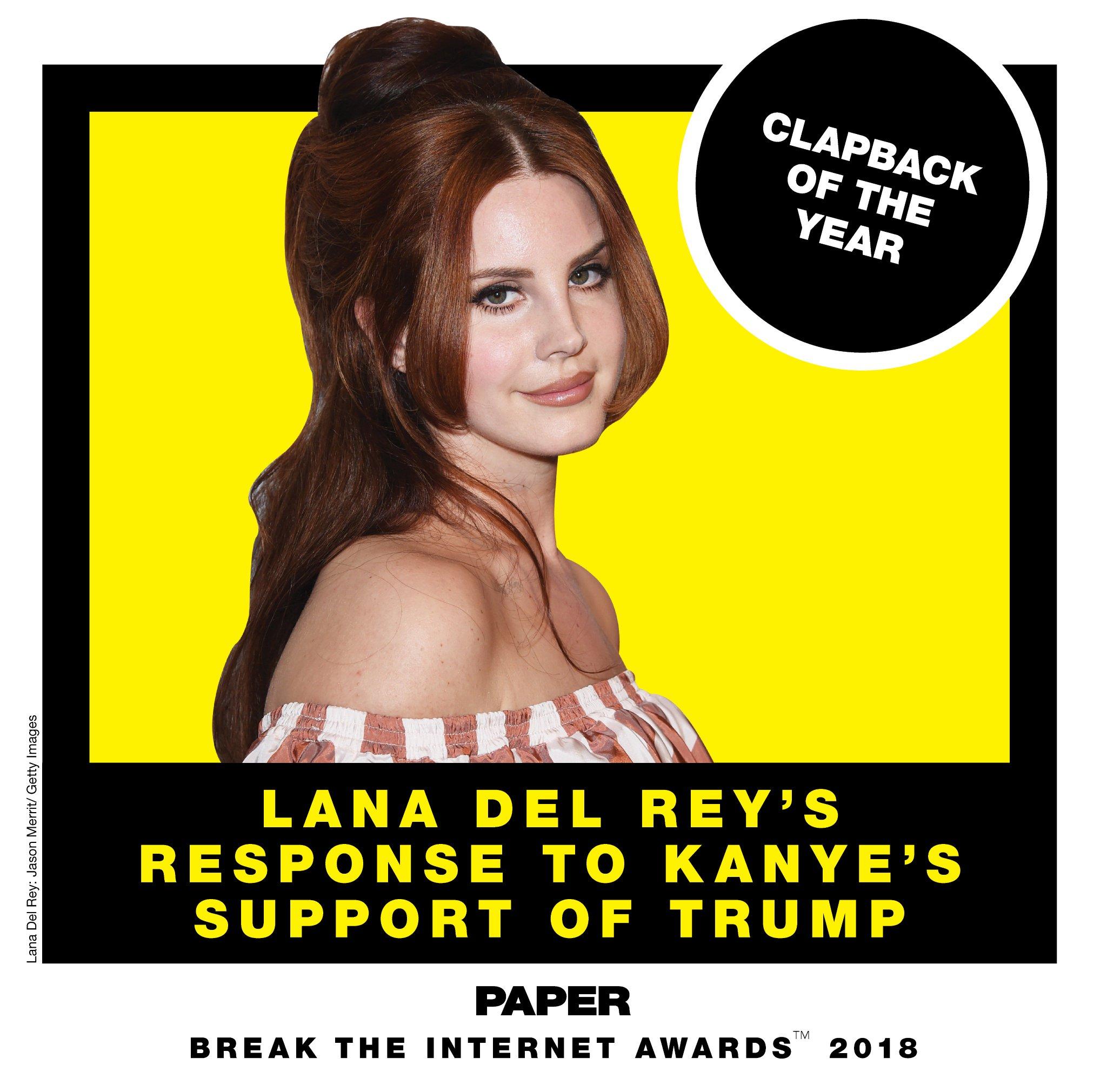 .@LanaDelRey for clapback of the year! #breaktheinternet  https://t.co/Fnkqv7FGh6 https://t.co/SKjPwpqAAV