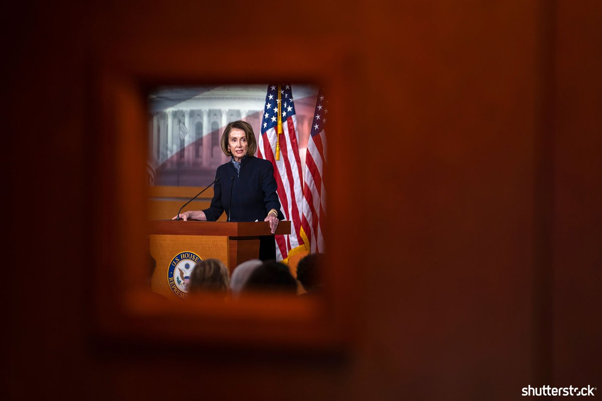 Democratic House Minority Leader #NancyPelosi speaks to the media about the possibility of a government shutdown in the US Capitol + more photos of the day shutr.bz/EditorsPicks | 📸 EPA-EFE/Shutterstock