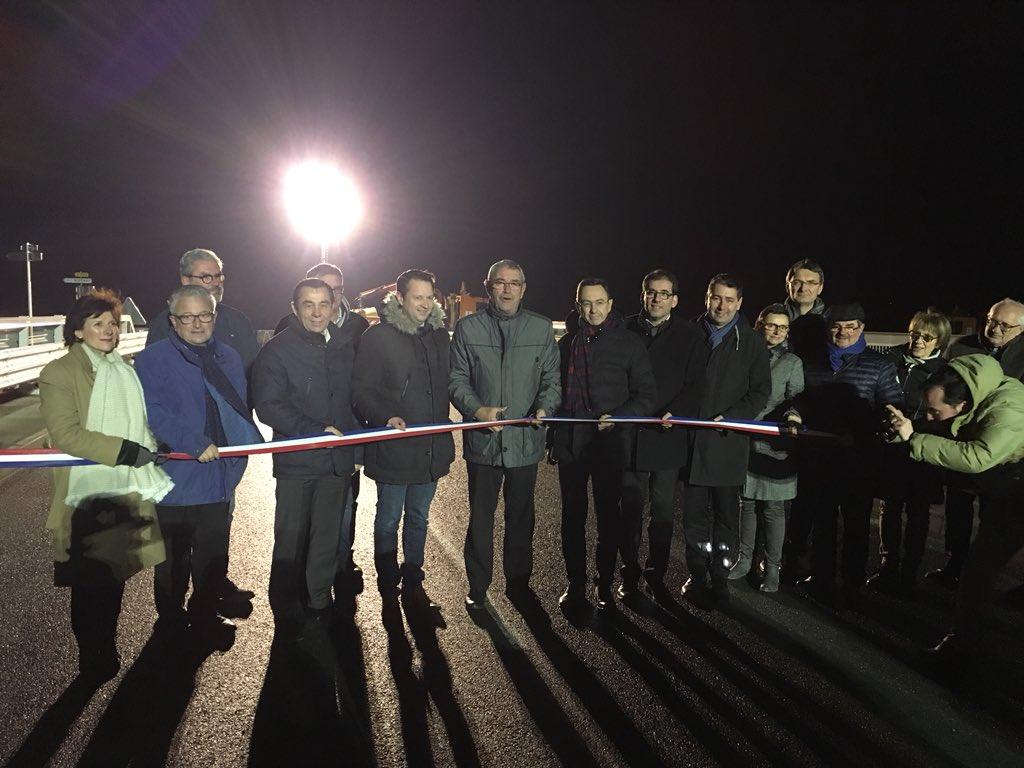 Inauguration d'une nouvelle portion de 2x2 voies entre Aizenay et Challans. Heureux et fier de voir que ce projet que nous avons défendu durant des années se réalisent aujourd'hui. Cela va encore renforcer l'attractivité économique du Nord-Ouest Vendée #route