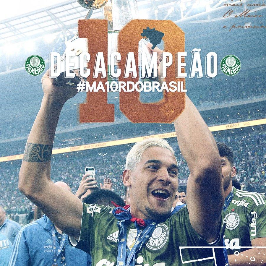 Chegou da Itália, vestiu a camisa do Palestra e impôs respeito desde o primeiro jogo!  #MA10RDOBRASIL #PalmeirasDecacampeão